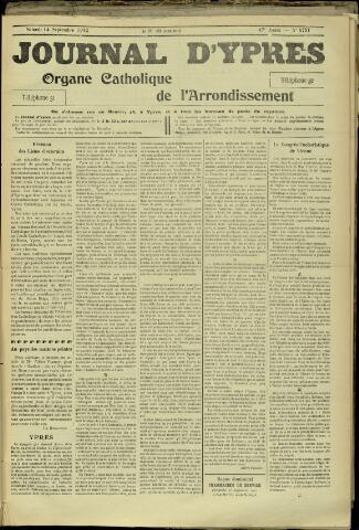 Journal d'Ypres (1874 - 1913) 1912-09-14