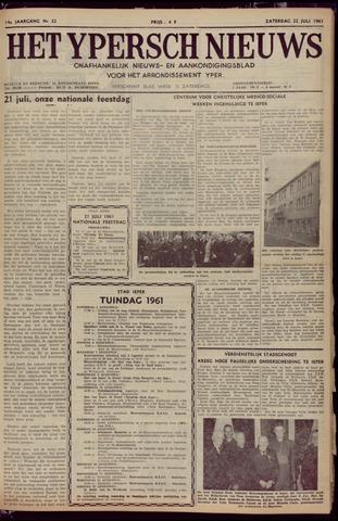 Het Ypersch nieuws (1929-1971) 1961-07-22