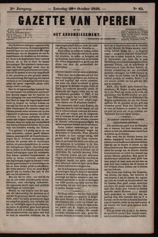 Gazette van Yperen (1857-1862) 1858-10-30