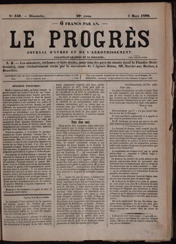 Le Progrès (1841-1914) 1880-03-07