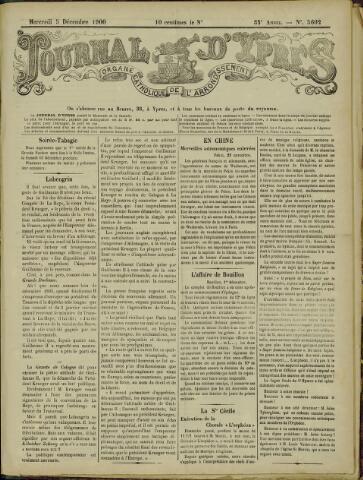 Journal d'Ypres (1874 - 1913) 1900-12-05