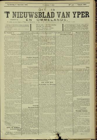 Nieuwsblad van Yperen en van het Arrondissement (1872 - 1912) 1905-09-02