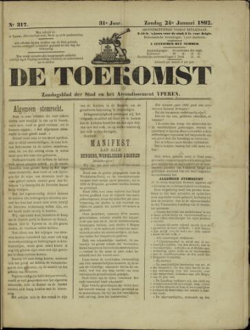 De Toekomst (1862 - 1894) 1892-01-24