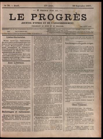 Le Progrès (1841-1914) 1897-09-30