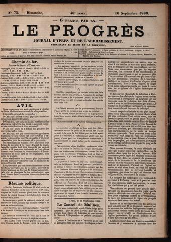 Le Progrès (1841-1914) 1888-09-16