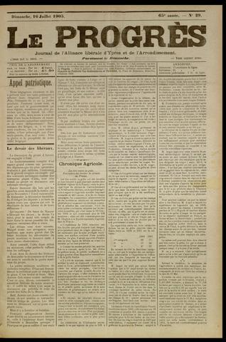 Le Progrès (1841-1914) 1905-07-16