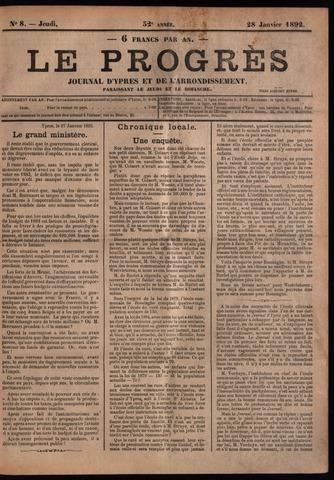 Le Progrès (1841-1914) 1892-01-28