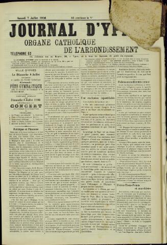 Journal d'Ypres (1874 - 1913) 1906-07-07