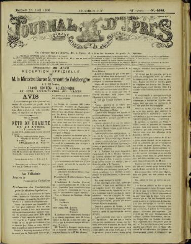 Journal d'Ypres (1874 - 1913) 1900-04-18