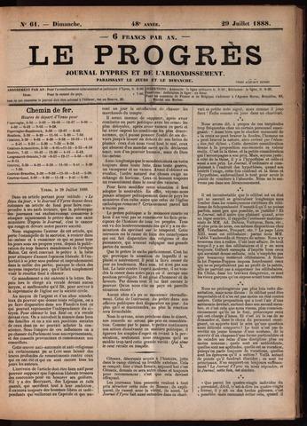 Le Progrès (1841-1914) 1888-07-29