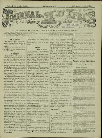 Journal d'Ypres (1874 - 1913) 1899-01-14
