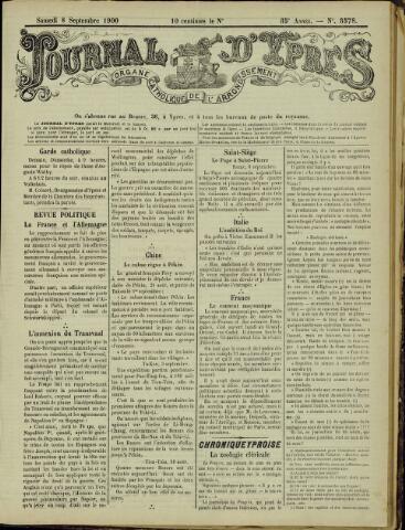 Journal d'Ypres (1874 - 1913) 1900-09-08