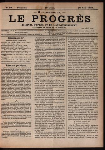 Le Progrès (1841-1914) 1888-08-26