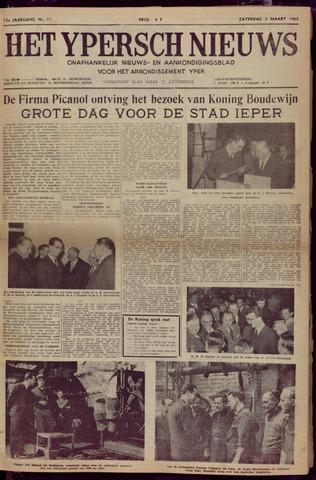 Het Ypersch nieuws (1929-1971) 1962-03-03