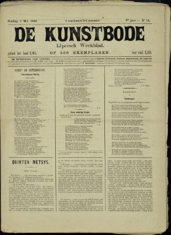 De Kunstbode (1880 - 1883) 1881-05-01