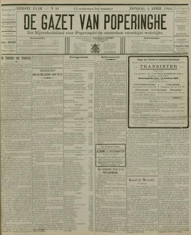 De Gazet van Poperinghe  (1921-1940) 1922-04-02