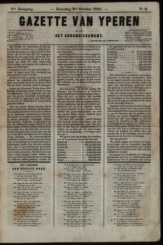 Gazette van Yperen (1857-1862) 1857-10-03