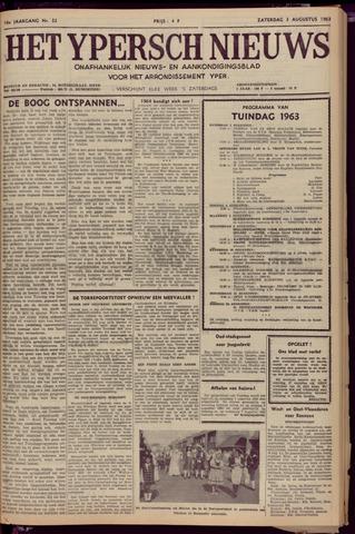 Het Ypersch nieuws (1929-1971) 1963-08-03