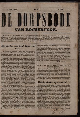 De Dorpsbode van Rousbrugge (1856-1857 en 1860-1862) 1857-06-23