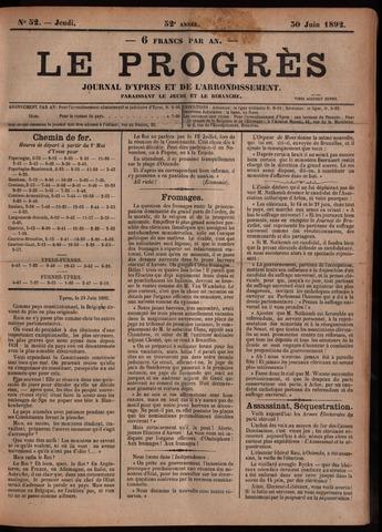 Le Progrès (1841-1914) 1892-06-30