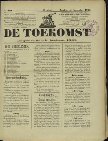 De Toekomst (1862 - 1894) 1892-09-04