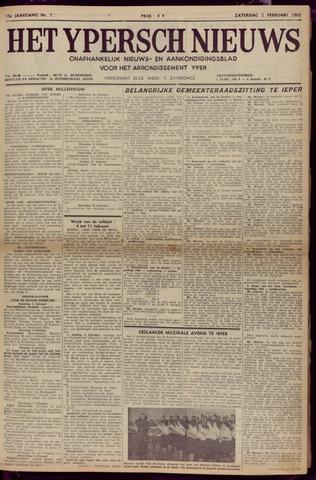 Het Ypersch nieuws (1929-1971) 1962-02-03