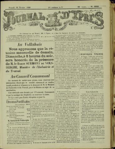 Journal d'Ypres (1874 - 1913) 1900-02-10