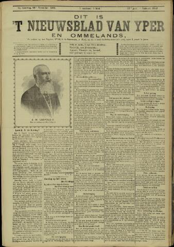 Nieuwsblad van Yperen en van het Arrondissement (1872 - 1912) 1902-11-22