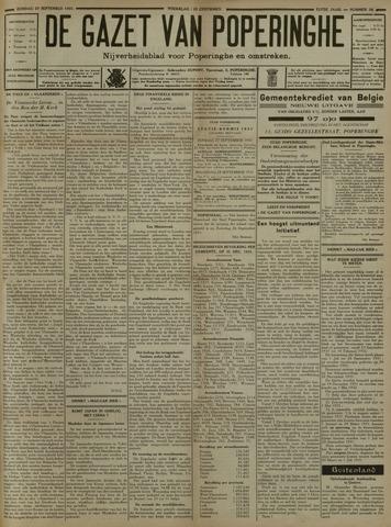 De Gazet van Poperinghe  (1921-1940) 1931-09-27