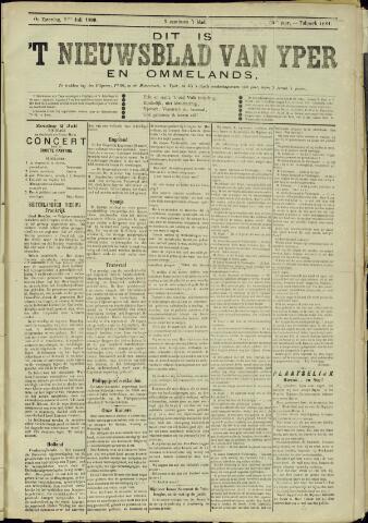 Nieuwsblad van Yperen en van het Arrondissement (1872 - 1912) 1899-07-01