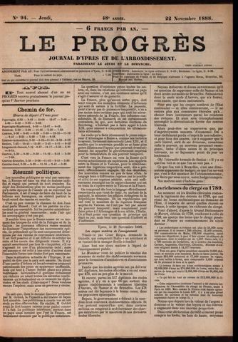 Le Progrès (1841-1914) 1888-11-22