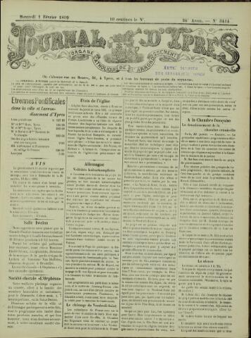 Journal d'Ypres (1874 - 1913) 1899-02-01