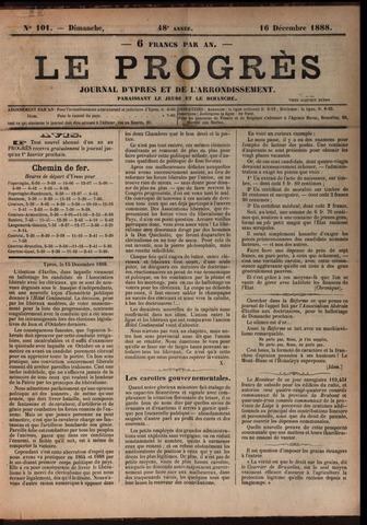 Le Progrès (1841-1914) 1888-12-16