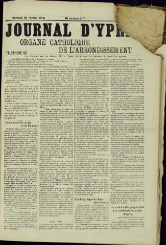 Journal d'Ypres (1874 - 1913) 1906-02-21