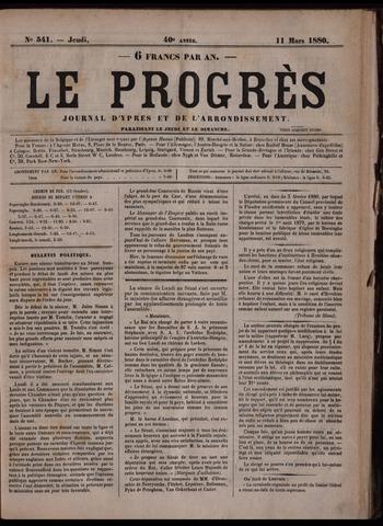 Le Progrès (1841-1914) 1880-03-11