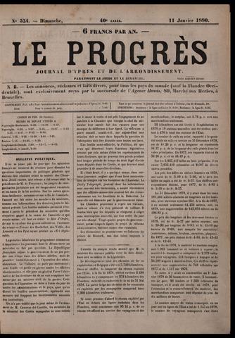 Le Progrès (1841-1914) 1880-01-11