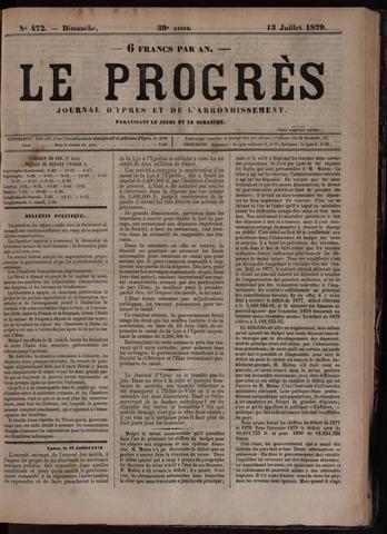 Le Progrès (1841-1914) 1879-07-13