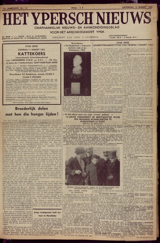 Het Ypersch nieuws (1929-1971) 1962-03-10