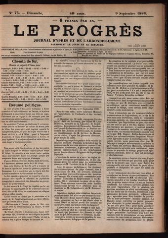 Le Progrès (1841-1914) 1888-09-09