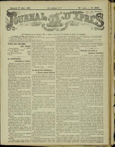 Journal d'Ypres (1874 - 1913) 1900-06-27