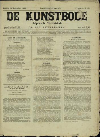 De Kunstbode (1880 - 1883) 1880-11-28