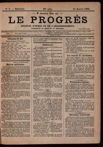 Le Progrès (1841-1914) 1888-01-15