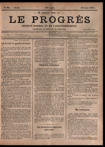 Le Progrès (1841-1914) 1897-08-19