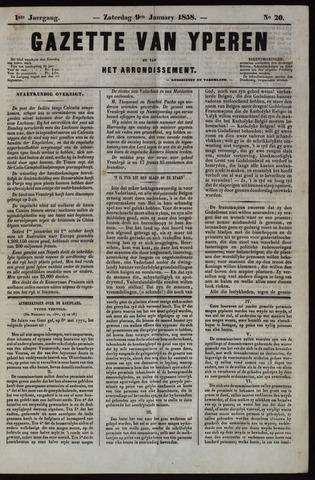 Gazette van Yperen (1857-1862) 1858-01-09