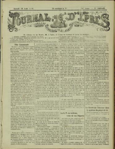Journal d'Ypres (1874 - 1913) 1899-08-19