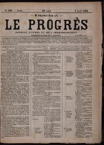 Le Progrès (1841-1914) 1880-04-08