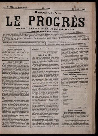 Le Progrès (1841-1914) 1880-04-18