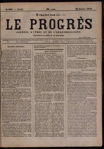 Le Progrès (1841-1914) 1879-01-23