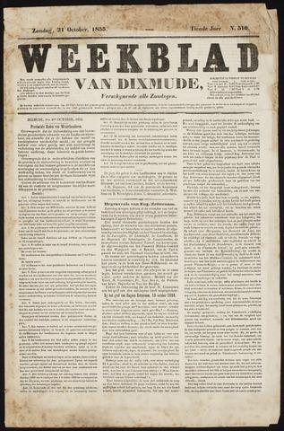Weekblad van Dixmude 1855-10-21