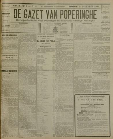 De Gazet van Poperinghe  (1921-1940) 1922-12-10